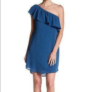 NWT Bobeau One Shoulder Ruffle Dress